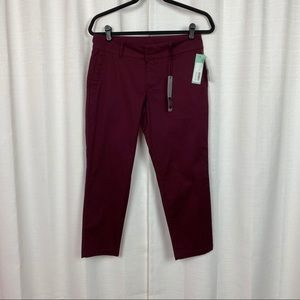 Kut From The Kloth Burgundy Siena Cropped Pant
